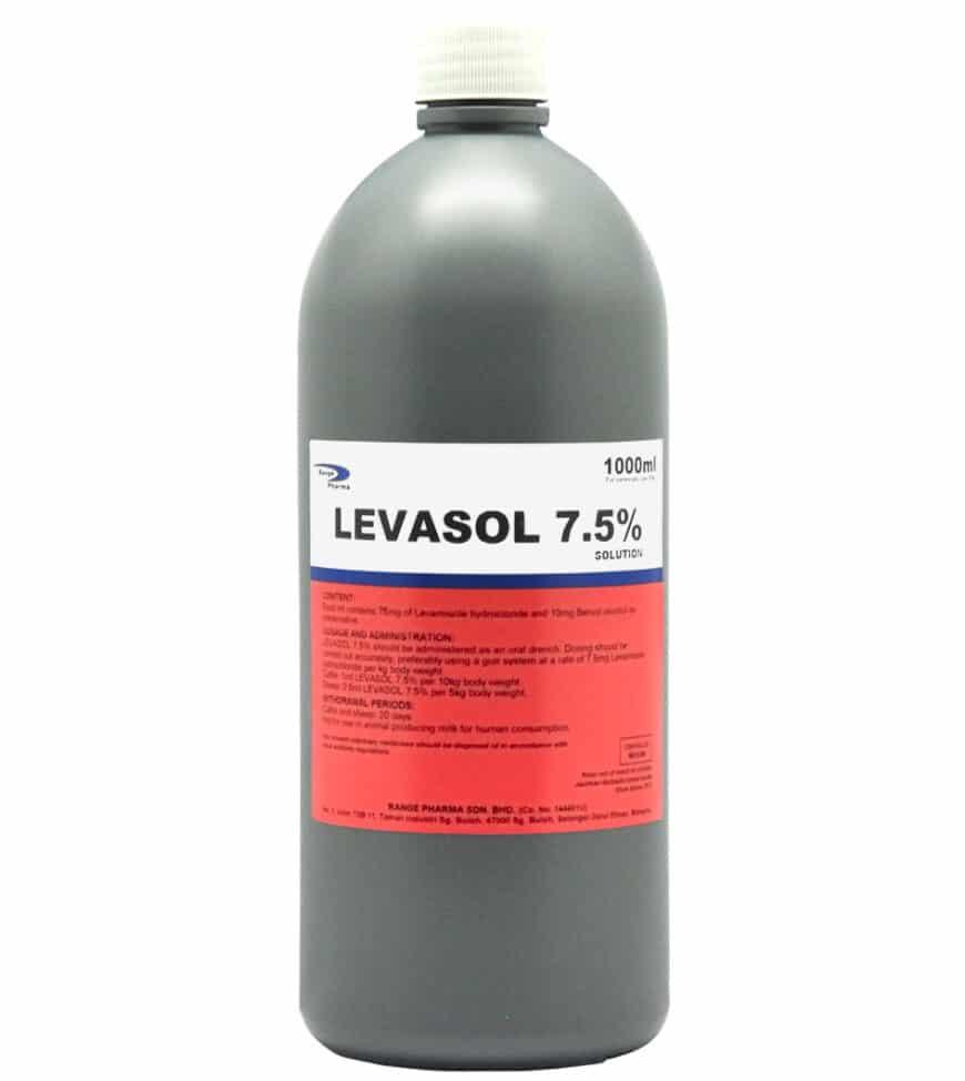 Levamisole hydrochloride 75mg / ml